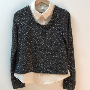 Monteau Sweater With Attached Blouse